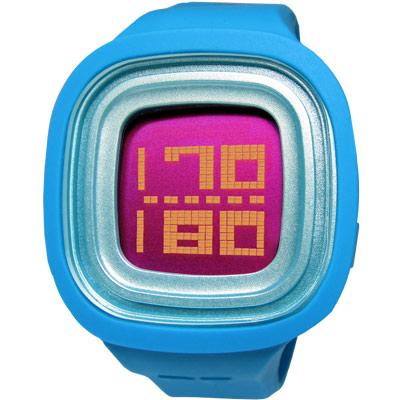Paul Frank 搖滾繽紛跳動液晶矽膠腕錶-紅x藍色/46mm