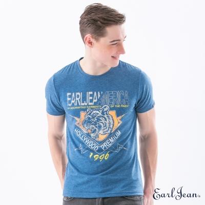 Earl Jean 文字虎頭圖T恤-深藍-男