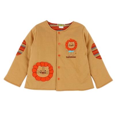 愛的世界 SUPERMINI 小獅子舖棉兩面穿長袖外套 6M~1歲