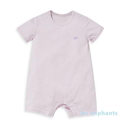 les enphants 冰牛奶幾何錢紋短袖連身裝 (4色可選)