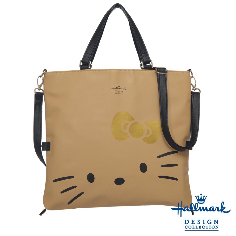 Hallmark-Kitty聯名款-3WAY手提方包-焦糖-HLKT15A164BG