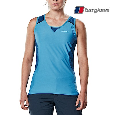 【Berghaus貝豪斯】女款銀離子除臭抗菌抗UV背心S03F02-藍