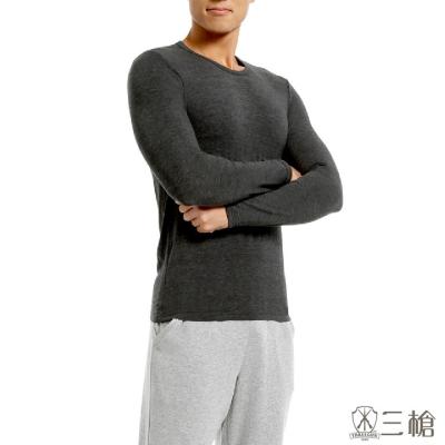三槍牌時尚經典台灣製舒適男長袖TG-HEAT發熱衣 2件組 黑色