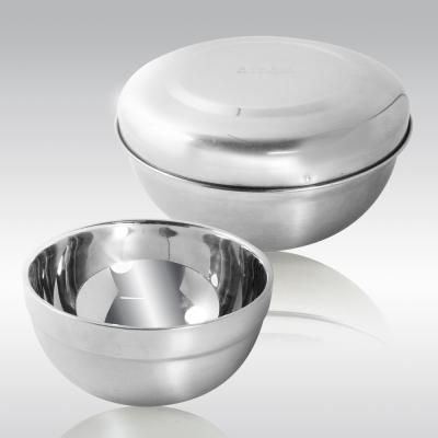 【三零四嚴選】304不鏽鋼雙層隔熱碗學生攜帶組1組