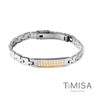 TiMISA 永恆真愛-細版 金 純鈦鍺手鍊