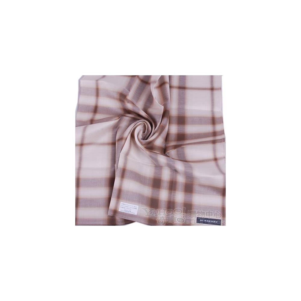 BURBERRY 典雅大格紋帕領巾(米卡其)