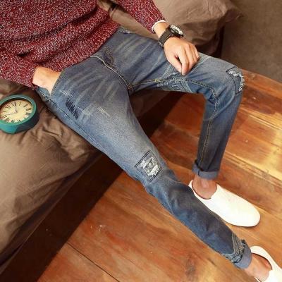 Kernel-民族風-補丁-窄管-單寧褲-牛仔褲