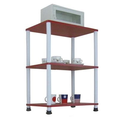 Dr. DIY 寬60公分-三層長管-置物架/電器架(三色可選)