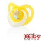 Nuby 夜光舒眠安撫奶嘴0-6m(附蓋)-黃