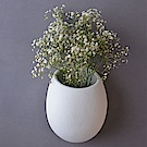 Serax 比利時 懸掛式白色圓弧花器 16x13xH21cm