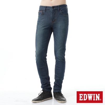 EDWIN 大尺碼 EDGE彈性牛仔褲-男-石洗綠