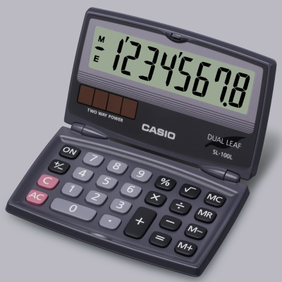 CASIO(國家考試專用機種)  8位數口袋輕巧型商務計算機SL-100L
