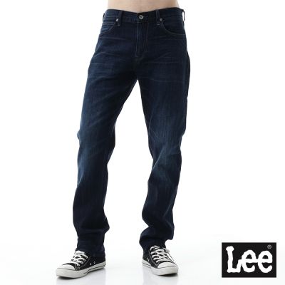 Lee 牛仔褲 735中腰舒適小直筒牛仔褲/BL-男款