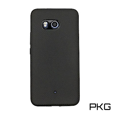 PKG  HTC U11 軟質手機殼-抗指紋類碳纖紋-黑