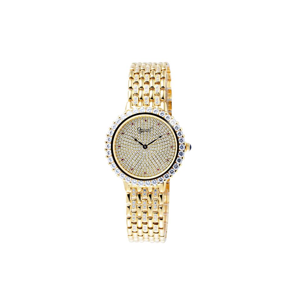 Ogival  晶華典雅奧地利水晶鑽腕錶(金)