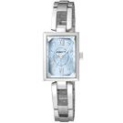CITIZEN WICCA 窈窕優雅 手環式腕錶(BE1-011-71)-藍/18mm