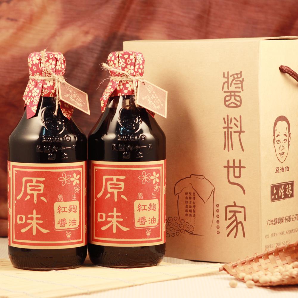 豆油伯 紅麴醬油禮盒(500mlx2入)