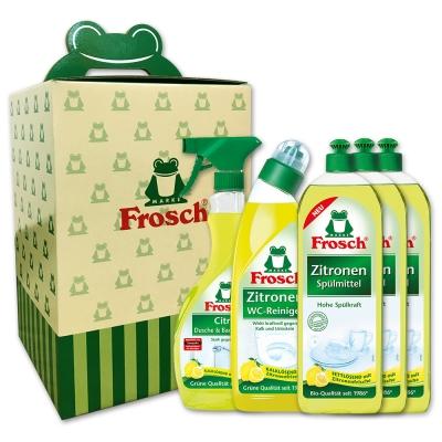 Frosch德國小綠蛙 天然高效檸檬清潔組(五件組)