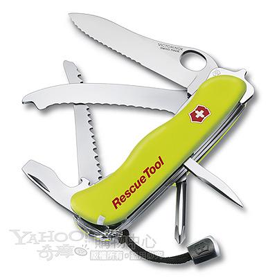 VICTORINOX 15用單手開救生螢光黃瑞士刀