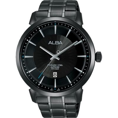 ALBA雅柏 爵士時尚手錶(AS9E87X1)-黑/44mm