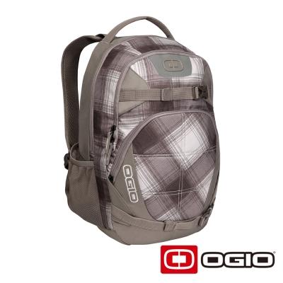 OGIO REBEL 15吋 背叛者電腦後背包-棕白格紋
