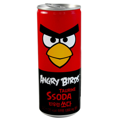 《PALDO》 憤怒鳥碳酸飲料 - 草莓 (240ml X 6入)