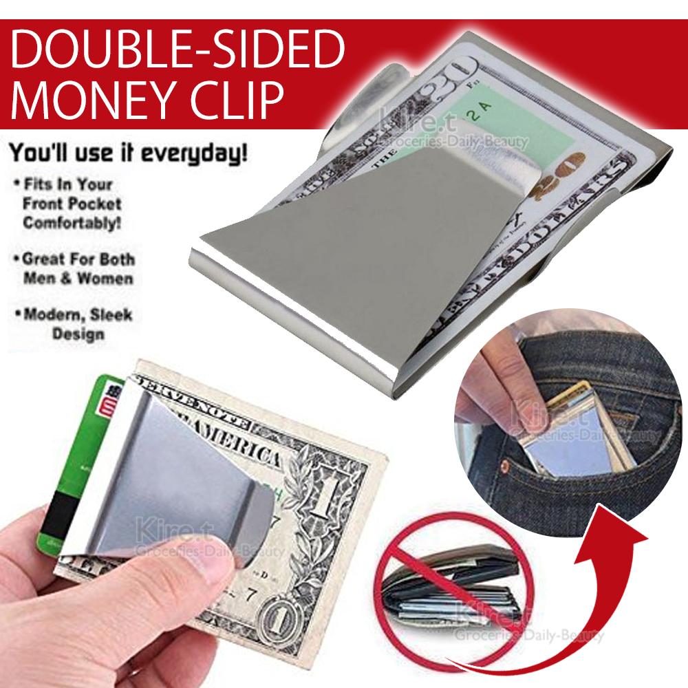 歐美 超簡約錢包 質感金屬錢夾 不鏽鋼 鈔票夾-kiret