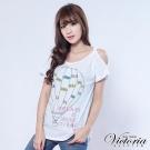 Victoria 夢想熱氣球長版TEE-女-白色