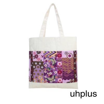 uhplus Twin Pocket 輕提袋-和風伝統紋花(菫)