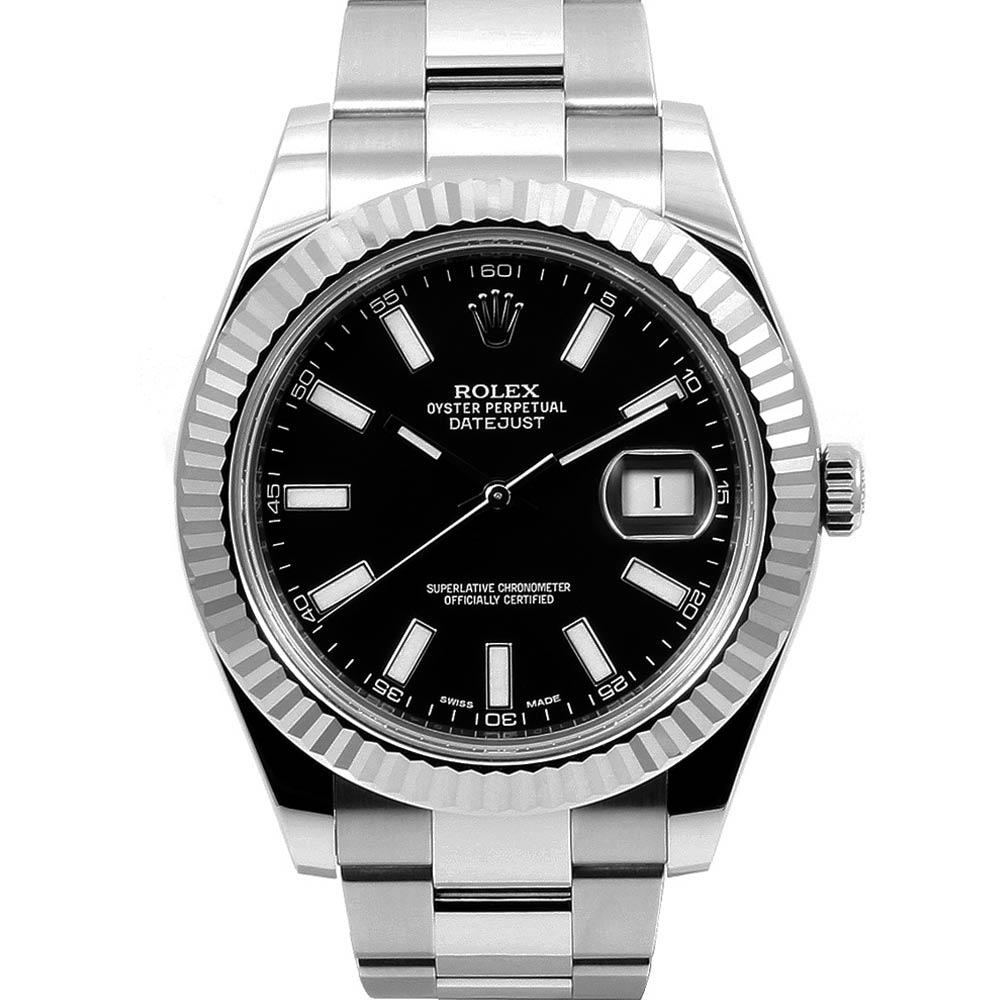 ROLEX 勞力士 DatejustII 116334 恆動日誌型腕錶-黑面41mm