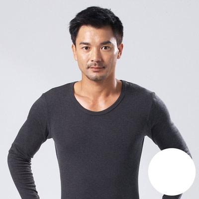 【DADADO】基礎系列M-LL素面U領保暖內衣(本白色)