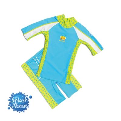 《Splash About 潑寶》 兒童抗UV游泳套裝 - 水藍 / 水族剪影 1-2歲