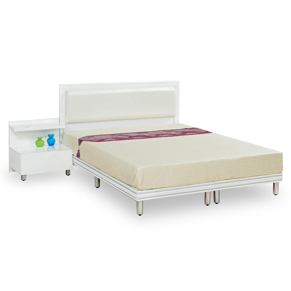 時尚屋 特倫斯純白5尺雙人床架(不含床頭櫃-床墊) @ Y!購物