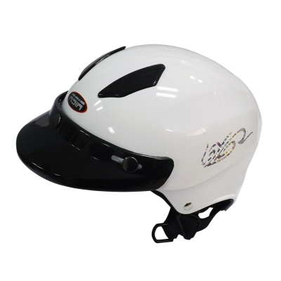 ASIA A-609 四合扣款式 摩登安全帽 珍珠白