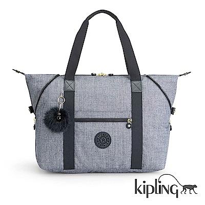 Kipling 手提旅行包 淺麻藍灰-大
