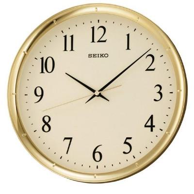SEIKO 精工 黃金戰士 恆動式秒針標準掛鐘-香檳金/31cm