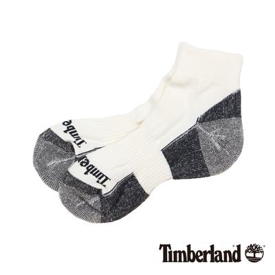 Timberland 白色排汗中筒休閒短襪(3入組)