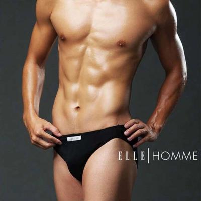 ELLE HOMME 萊卡低腰三角褲_黑/灰/白/紅《超值3件組》