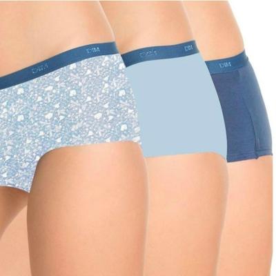 法國DIM-Pockets「旅行輕便-彈力棉」系列平口內褲3件組-夢幻藍