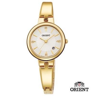 ORIENT 東方錶 DRESS系列 簡約優雅女錶-珍珠貝x金色/26mm