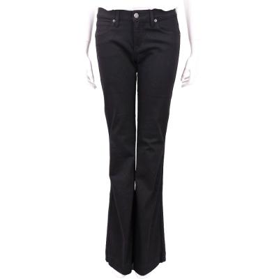 BURBERRY 黑色伸縮棉質喇叭牛仔褲