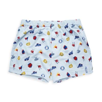 Annypepe 男童 棒球平口褲_美國精梳棉 水藍