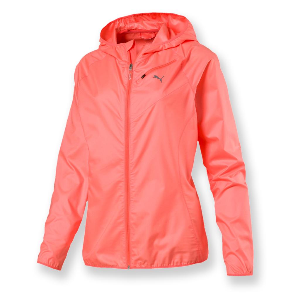 PUMA-女性慢跑系列連帽風衣外套-蜜粉橙-歐規
