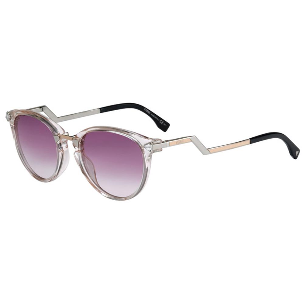 FENDI 廣告款 時尚太陽眼鏡(透明色)