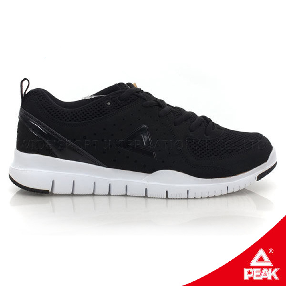 PEAK匹克。男運動常規慢跑鞋-正黑/正白