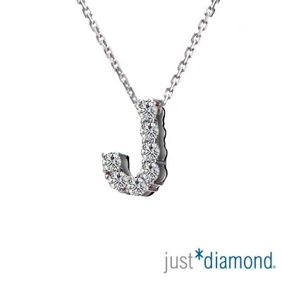 Just Diamond Love Words系列18K金鑽石墜子-J