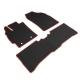 神爪-卡固平面專用型黑踏墊-彩色包邊-B款