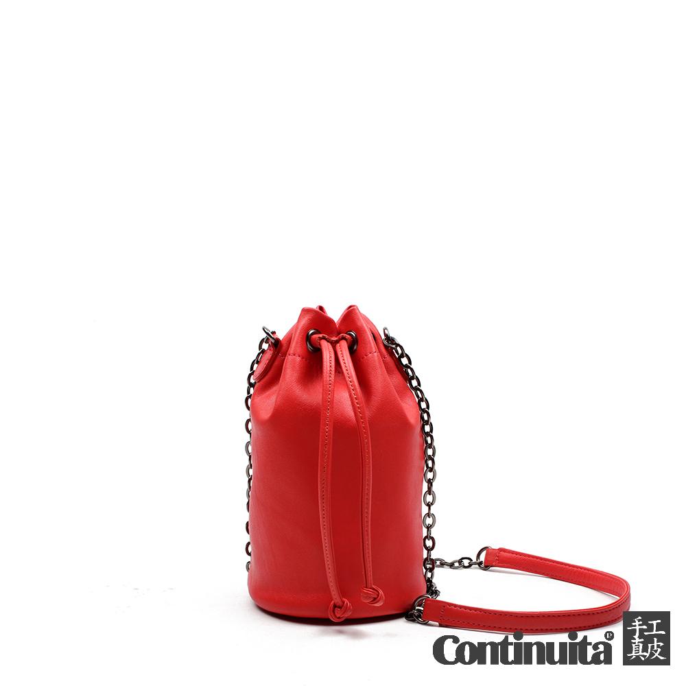 【Continuita 康緹尼】台灣手工真皮包 MIT 質感典韻斜背包 - 紅色