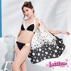 夏之戀 Loveteen 比基尼泳裝 比基尼二件式 黑白色