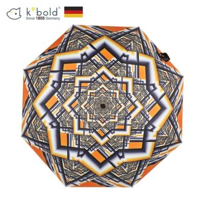 德國kobold酷波德 橙幽幻井 超輕巧抗UV防曬三折傘-烈焰橘